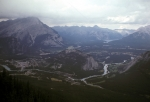 From mountain top in Banff