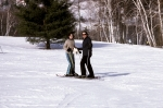 Peter and Eve on skis