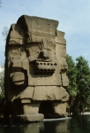 Stone god (front of museum)
